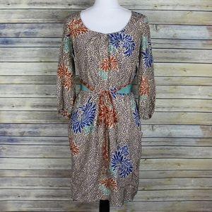 Corey Lynn Calter Fluttering Obi Silk Floral Dress